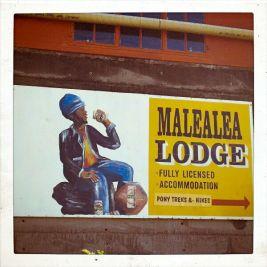The only lodge in Malealea.