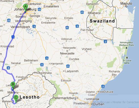 Joburg to Malealea = 510km in about 11hrs.